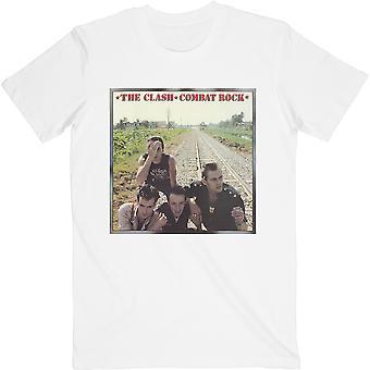 White The Clash Combat Rock Officiële T-Shirt Unisex