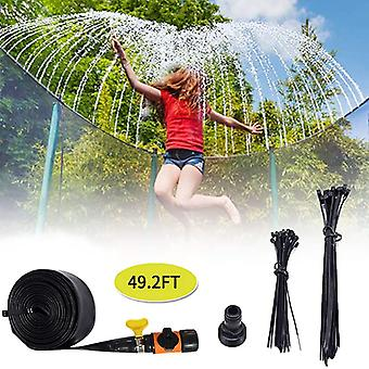 Trampoline Waterpark, Sprinkler Outdoor, Summer For Outside Fun Backyard