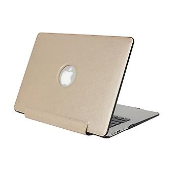 For Macbook Pro Retina 13.3 inch Silk Texture Apple Laptop United PU Protective Case(Gold)