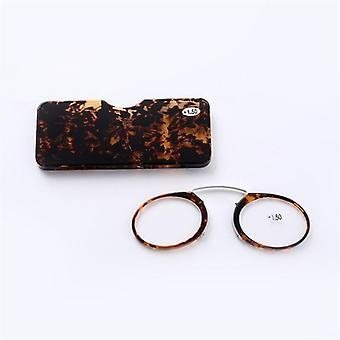 Clip Nose Mini Reading Glasses Men Women Readers Prescription Eyeglasses