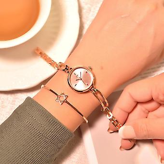 Women Bracelet Watches, Luxury Fashion Stainless Steel Small Quartz Simple