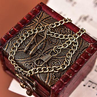 Bronze Alloy Pocket Watch Chain For Antique Quartz Vintage Pocket Watch