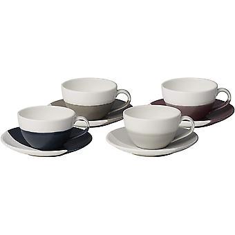 Royal Doulton Coffee Studio 40035928 Flat White Cup & Saucer Set of 4