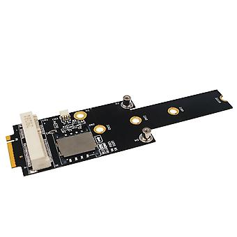 Mini PCI-E to M.2 NGFF Key M Adapter with SIM Card Slot for WiFi/WWAN/LTE Module
