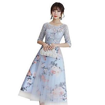 Flower Elegant, Short Lace, Soiree Half Sleeves, Bride Dress