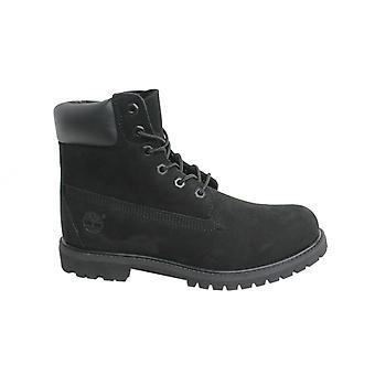 Timberland AF 6 tum Prem Svart Nubuck Läder Lace Up Womens Boots 8658A B69E
