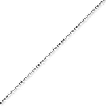 Jewelco London Sterling hopea 2mm mittari timantti-Cut Belcher Chain