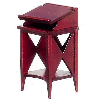 Dolls House Mahogany Harlequin Library Reading Stand Miniature Study Furniture
