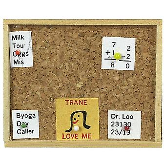 Dolls House Cork Memo Board Accessorio ufficio studi cucina in miniatura