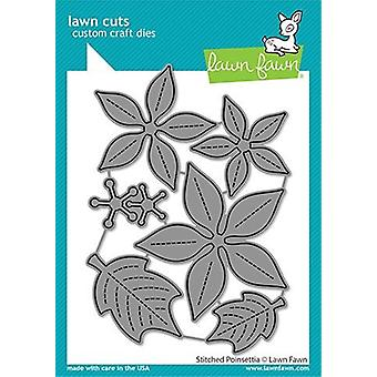 Lawn Fawn Stitched Poinsettia Dies