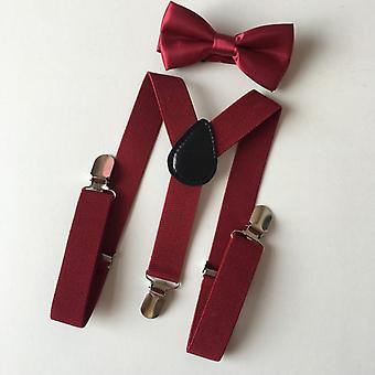 Children Braces Suspenders Bow Tie, Y-shaped Braces And Bowtie Set