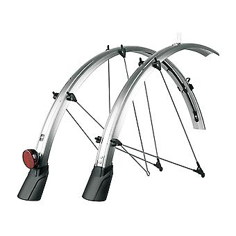 """SKS Bluemels CABLE TUNNEL 45 Bicycle Fender (Set) // 28"""" black/silver"""