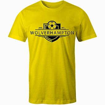 Wolverhampton Wanderers 1877 Established Badge Football T-Shirt