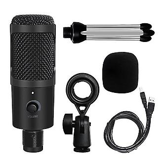 Metal Usb Microphone Condenser Recording Microphone D80 Mic With Stand