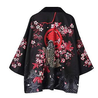 Women Asian Clothes Kimono Cardigan Shirt Traditional Japanese Kimonos Haori