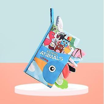 Детские мягкая ткань Книга Установить 3 пакеты слезоточивый ребенка раннего образования книги с смешной бумажный хвост