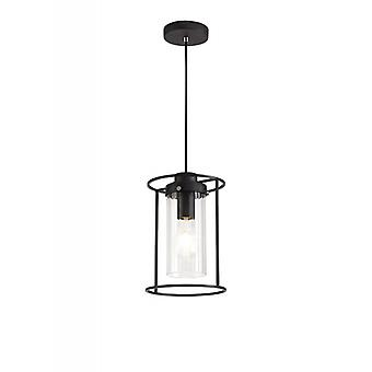 Lámpara Colgante De Diseño Feniks 1 Bombilla Negro 17,5 Cm