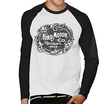 Ford Motor Co Detroit Mich Men's Honkbal T-Shirt met lange mouwen