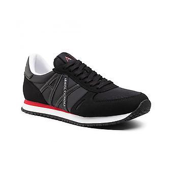 Running Armani Exchange Micro Suede/ Nylon Mesh Black Sneaker Us21ax10 Xux017