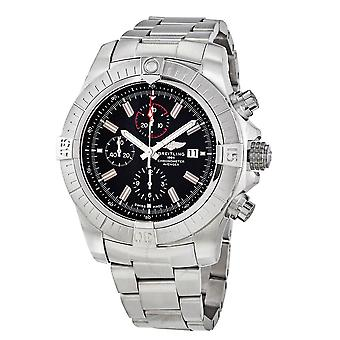 Breitling Super Avenger Chronograph Automatic Chronometer Black Dial Men's Watch A13375101B1A1