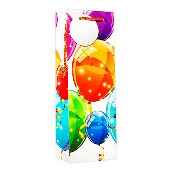 Simon Elvin Colour ballong vinflaske gaveposer (pakke med 6)