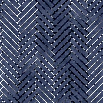 Blue Marble Chevron Wallpaper