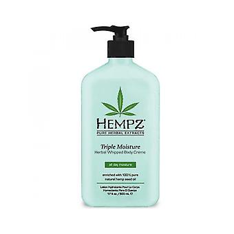 Hempz Triple Moisture Herbal Whipped Body Creme Skin Hydrating Lotion - 500ml