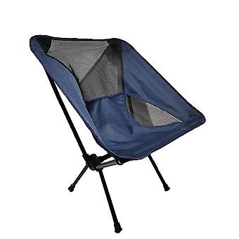 Ultralight Folding Camping Moon Chair / Backrest Seat Chair With Side Bag