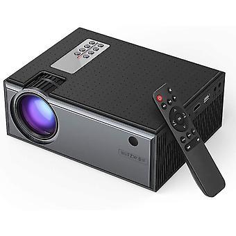 Mini Beamer, Projektor Tragbarer Videoprojektor Unterstützt 1080P Full HD mit Fernbedienung, 50000