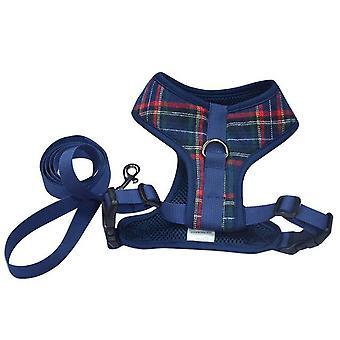 Huisdier harnas en riem verstelbare vest harnas met voor kat hond kitten puppy konijnen maat L