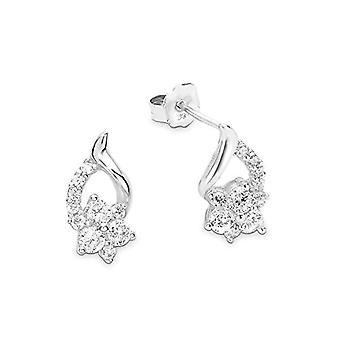 Amor Kvinnors örhängen i 925 rodium-gnagt silver, med vita zirkoner
