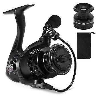 13+1BB Fishing Reel Smooth Spinning Reel with Spare Plastic Spools Interchangeable Collapsible Handle Fishing Tackle