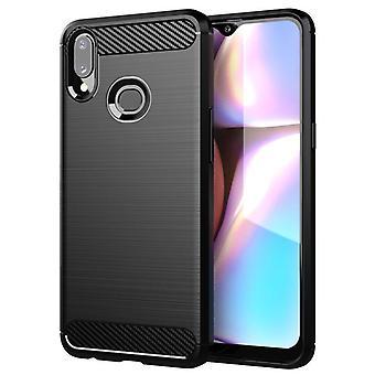 Tpu carbon fibre case for samsung a10e black mfkj-682