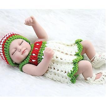 H made realistic newborn closed eyes baby dolls pl-787