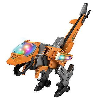 2 In 1 B/o Funny Transform Electric Dinosaur Plane Toys Kids With Sound Light