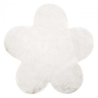 Rug NEW DOLLY flower G4372-3 white IMITATION OF RABBIT FUR