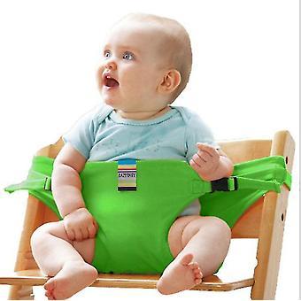 Zielona jadalnia krzesło bezpieczeństwa pas dla niemowląt jadalnia przenośnik dodatkowy pas x5156