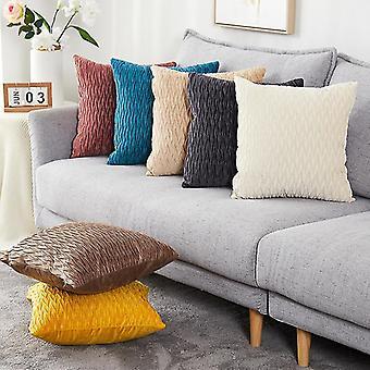 Pudebetræk Soft Velvet dekorative puder smide pudebetræk bløde solide farver Luksus Sofa Seat