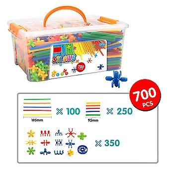 160/500/700 Pcs 4d plastic stitching building blocks bricks straws kids diy educational toys