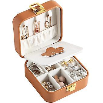 مجوهرات تخزين مربع الأقراط بو الجلود حلقة المحمولة أصحاب القضية