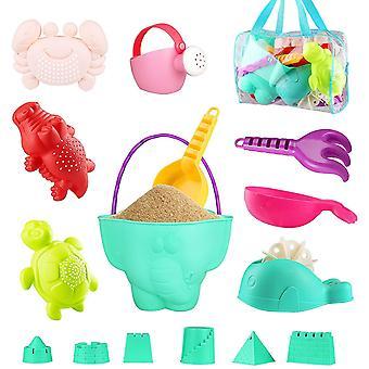 Kinder Junge Mädchen Strandspielzeug Set ,16 Stück Sandspielzeug Sand und Wasser Spielzeug für