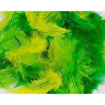 10g sekoitettu vihreä & Lime höyhenet käsi töitä varten