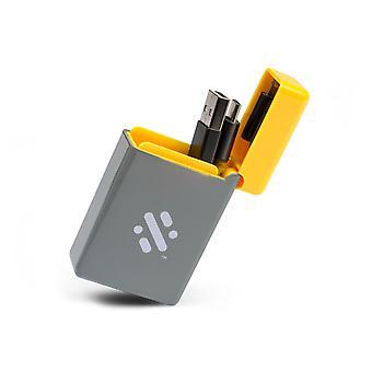 Flip - Einziehbares 3-in-1 Ladekabel - Gelb