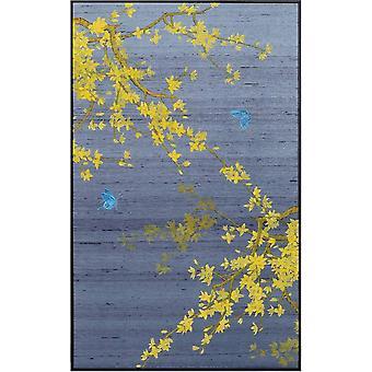 Fin AsiatiskLiving Oriental Maleri Høstblader på 100% Ren Silke 600x1000mm