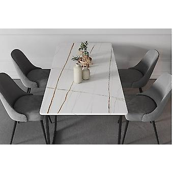 Modern Simple Slate Dining Table Small Family
