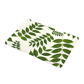 Swotgdoby Flannel Tropical Green Plant Printing Floor Mat, Non-slip And Beautiful