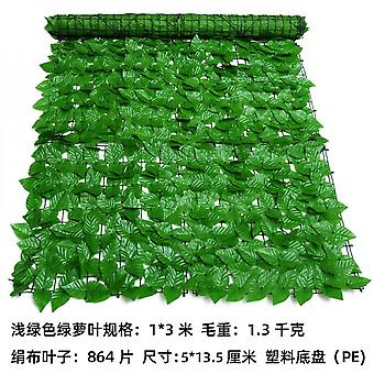Green Leaf Simulation Fence Artificial Green Plant Fence