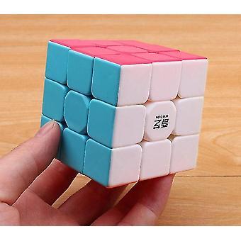 3x3x3 Farverig stickerless hastighed - Pædagogisk Magic Cube Legetøj