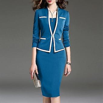Women Suit And Vest Dress Office Sets Skirt Plus Size Blazer Set
