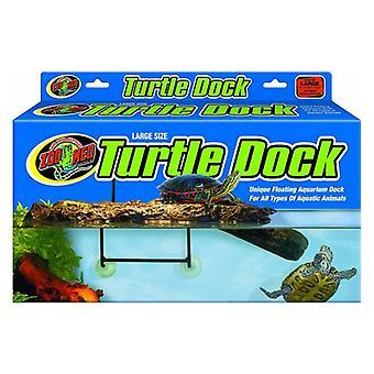 """Zoo Med Floating Turtle Dock - Stora - 40 gallon tankar (18"""" Lång x 9"""" Bred)"""